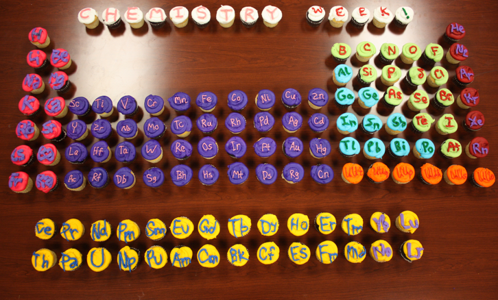 ... table constructed from cupcakes baked for Chemistry Week 2012