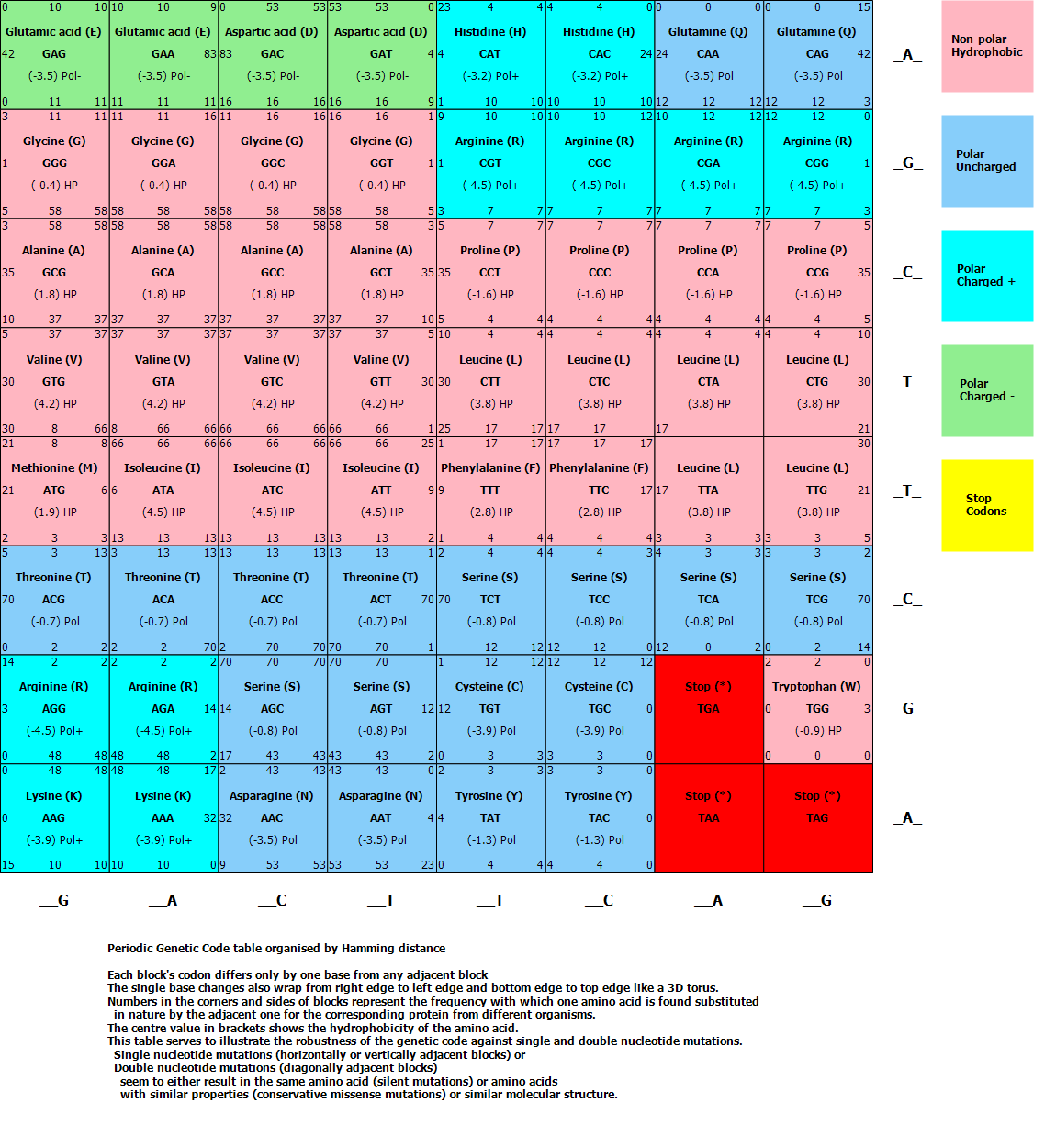Генетический Код Таблица Менделеева